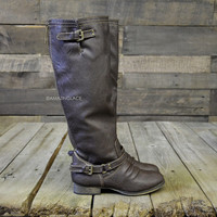 Montana Skye Light Brown Strap Riding Boots