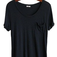 Relaxed Like My Boyfriend Tee, Black - Conversation Pieces