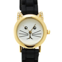 Purrrfect-Timing-Watch BLACKGOLD WHITEGOLD - GoJane.com