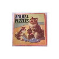Vintage Childrens Animal Puzzles Samuel Gabriel by SandyCreekCollectables