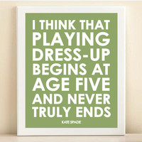 "Green ""Dress Up"" print poster"