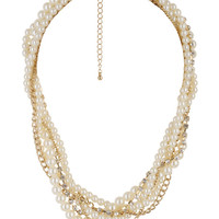 Twisted Rhinestone Necklace | FOREVER21 - 1000046571