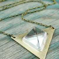 Quartz Crystal Tetrahedron Necklace
