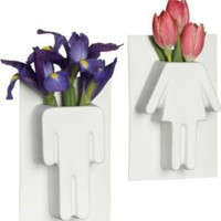 CB2 - 2-piece people vase gift set