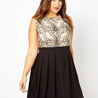Little Mistress Embellished Bodice Skater Dress