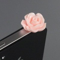 ZuGadgets 3.5mm Plug Pink Rose Flower Earphone Jack Accessory Plug / Ear Cap / Anti-dust Plug /Dust Stopper for iPhone,S3,HTC,Mobile Phones with 3.5mm Jack (7756-28):Amazon:Cell Phones & Accessories