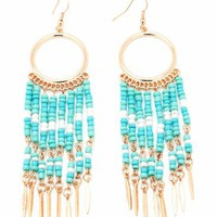 dangling beaded earrings $8.10 in MINTGOLD - Tribal | GoJane.com