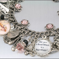 Good or Bad Witch Charm Bracelet Silver Charm by BlackberryDesigns