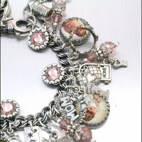 Mom Home Sweet Home Charm Bracelet Vintage by BlackberryDesigns