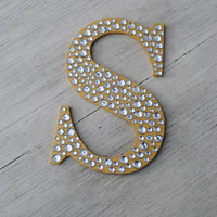 Sparkle Gold Bling Decorative Wall Letters Wedding Decor