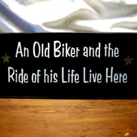 An Old Biker and the Ride of his Life Live Here | CountryWorkshop - Folk Art & Primitives on ArtFire