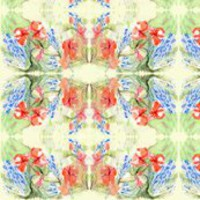 Balsam & Lobelia Flowers by Alexandra Cook fabric by linandara for sale on Spoonflower - custom fabric