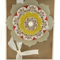 Multi Layer Floral Design On This Handmade Any Occasion Greeting Card