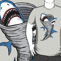 Shark Tornado T-Shirts & Hoodies