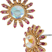 BetseyJohnson.com - PARIS GEM STUD EARRING PINK