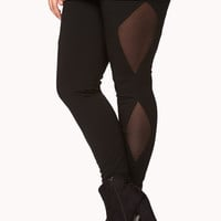 Mesh-Paneled Leggings