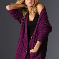 Victoria&#x27;s Secret - NEW! Cotton Cable Boyfriend Cardigan Sweater