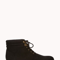 Lace-Up Ankle Booties | FOREVER21 - 2078918813