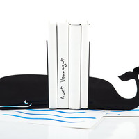 Bookends - Whale - laser cut for precision these metal bookends will hold your favorite books