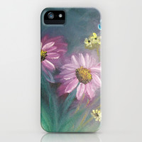 Contemporary Floral iPhone & iPod Case by Rokin Art by RokinRonda