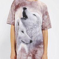 The Mountain White Wolves Tee