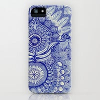 blue iPhone & iPod Case by Yes Menu