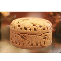 Novica Elephant Procession Soapstone Jewelry Box  - Decorative Boxes - Cost Plus World Market