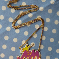 Enamel JEM (& the holograms) 80s Cartoon Necklace