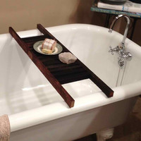 Tobacco Stick Bathtub Caddy Shelf