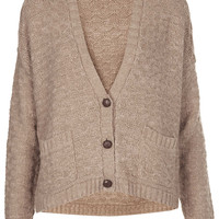 Knitted Girlie Stitch Cardi - Knitwear - Clothing - Topshop USA
