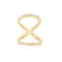 Crossing Paths Knuckle Ring
