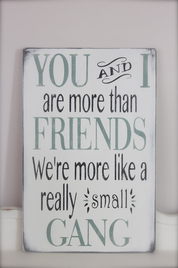 Friendship Quote Signs : Custom wood signs friend quote wall from inmind u on etsy