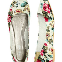 Jersey Floral Skimmer Flat | Shop Shoes at Wet Seal