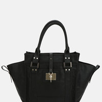 Deena & Ozzy Vegan Leather Winged Tote Bag
