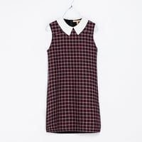 PETER PAN COLLAR CHECKED DRESS - Dresses - TRF | ZARA United States