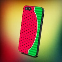 Watermelon Fruit Cute Red  - iPhone 4 / iPhone 4S / iPhone 5 / Samsung S2 / Samsung S3 / Samsung S4 Case Cove