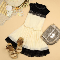 070304 Chiffon sleeveless vest bottoming dress child
