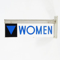 Vintage Gas Station Restroom Sign by ohiopicker on Etsy