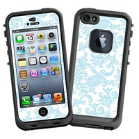 Soft Chateau Blue Damask Skin  for the iPhone 5 Lifeproof Case by skinzy.com