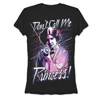 Star Wars Princess Leia Don't Call Me Princess Juniors Girly T-Shirt