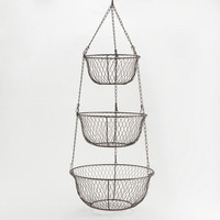 Wire Three-Tier Hanging Basket - World Market