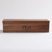 Acacia Wood Teabag Container | World Market