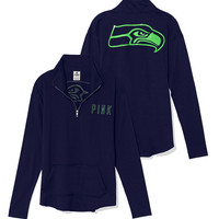 Seattle Seahawks Bling Half Zip Pullover - PINK - Victoria's Secret
