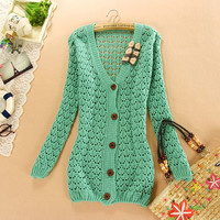A 081508 Outside the ride loose casual knit cardigan
