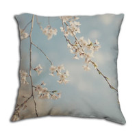 Sweetness - Pillow Cover - Nursery, Apartment, Dorm, Home, Decor, Baby, Romantic, Photography, Blue, White, Nature, Whimsical, Cottage, Chic