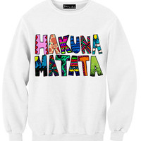 Hakuna Matata Drawing By S Sweatshirt | Yotta Kilo