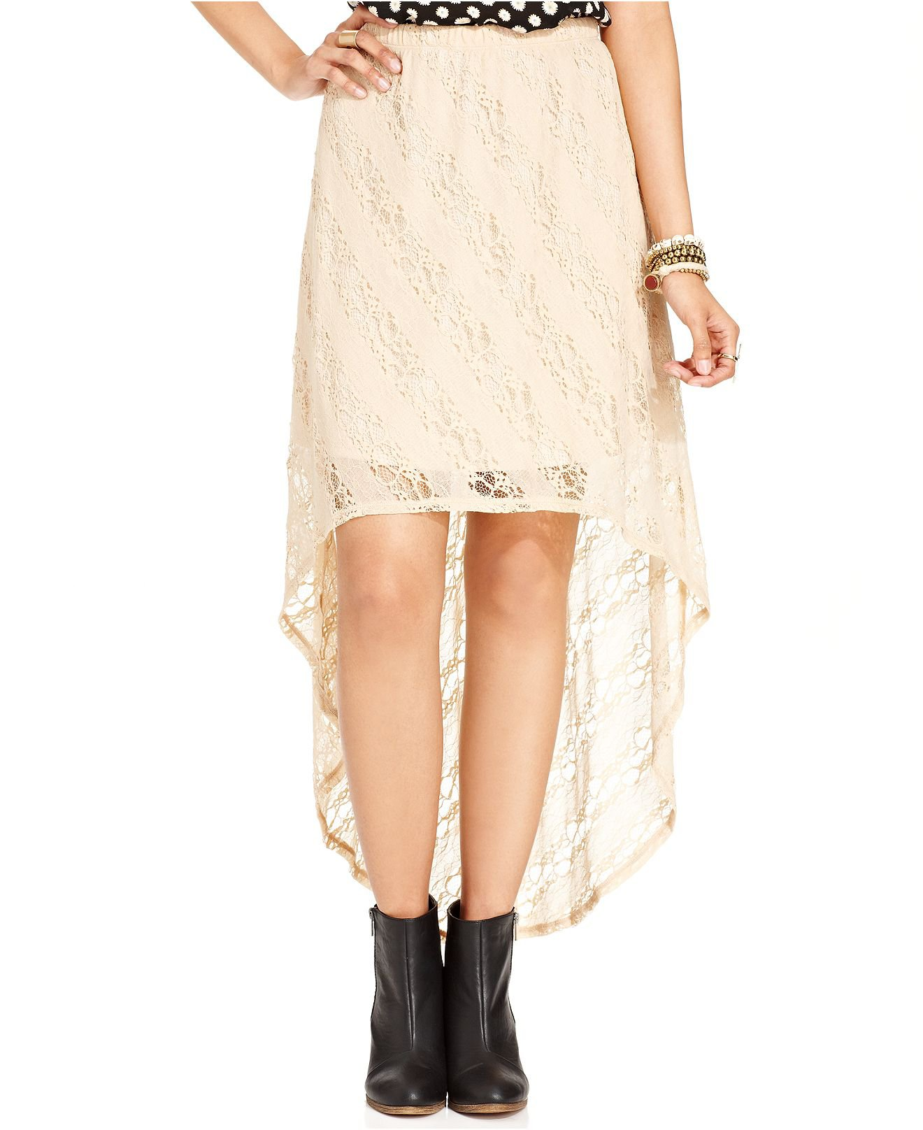 american rag juniors skirt lace high low from macys