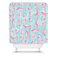 DENY Designs Home Accessories | Lisa Argyropoulos Summertime In Aqua Shower Curtain