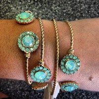 Arm Party BLING - Round Mint