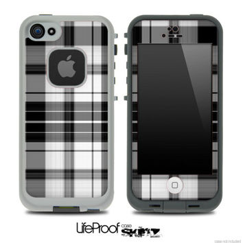 Black Plaid Skin for the iPhone 4/4s or 5 by TheSkinDudes on Etsy